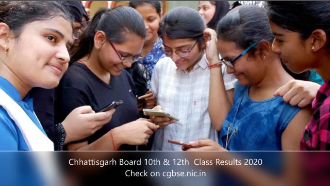 cgbse.nic.in 2020 10th 12th result date