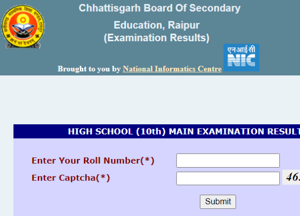 results.cg.nic.in 2020 10th 12th result