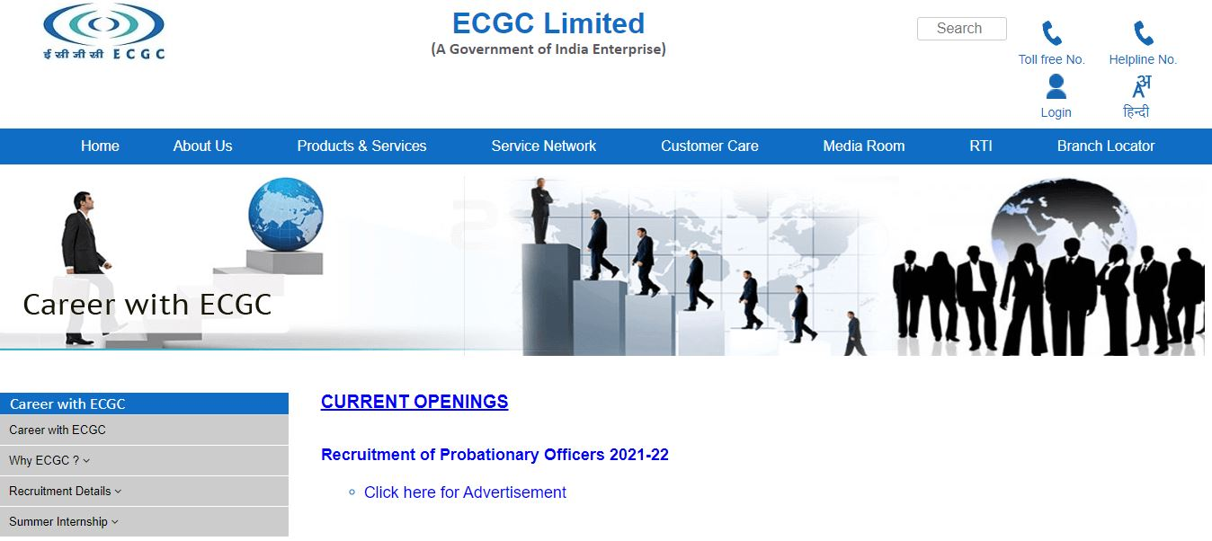ECGC PO recruitment 2021 Application Form - Apply Online from Jan 1